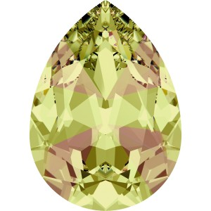 4327 Pear 30 x 20 mm Crystal Luminous Green (001LUMG) 1 Stück