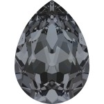 4320 Pear 18 x 13 mm Crystal Silver Night (001SINI) 1 Stück